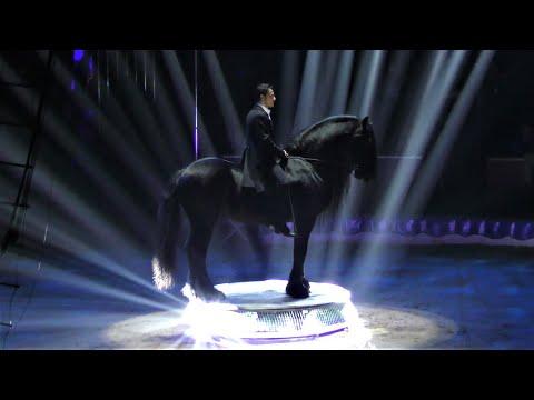 Circus KNIE - Friesian Horses- 44th Circus Festival Of Monte-Carlo 2020 - Golden Clown
