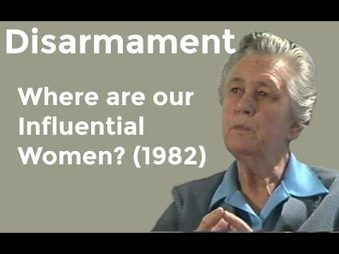 Disarmament: Where are our Influential Women? - 1982