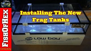 Drilling, Painting & Plumbing New Frag Tanks | 200 Gallon Frag Tank Build Part 2