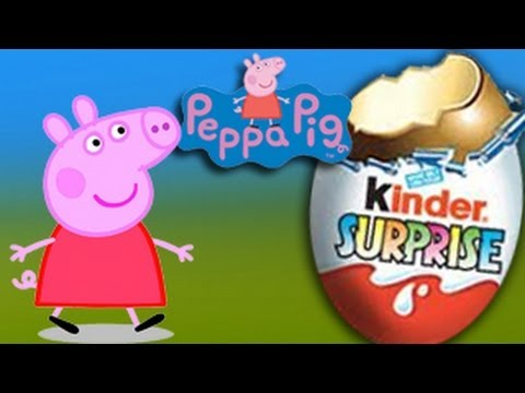Peppa Pig unboxing surprise candies egg and toy Travel Video