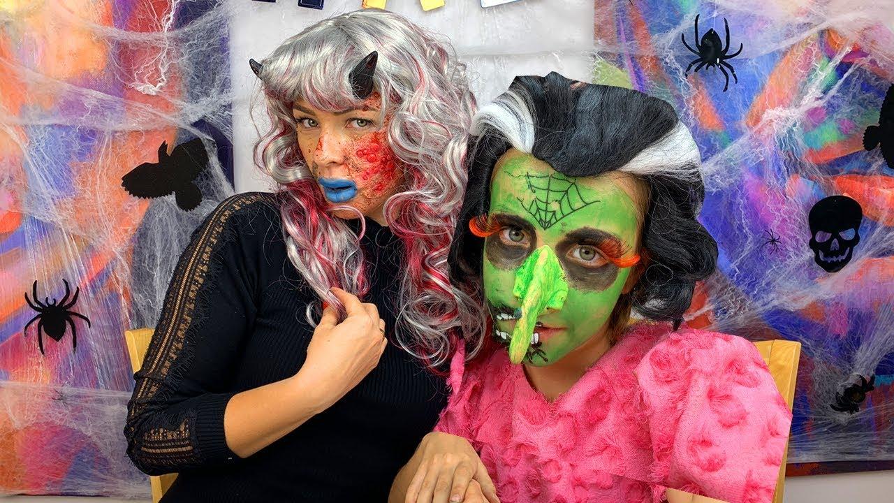 ЧЕЛЛЕНДЖ Грим НА Хеллоуин 2018 КТО СТРАШНЕЕ Обмани или Проиграешь /// Вики Шоу