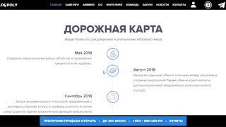 Обзор проекта WORLDOPOLY  Условия ICO и дорожная карта проекта