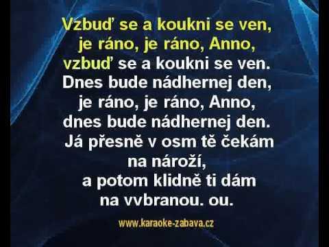 Je ráno Anno - Václav Neckář Karaoke tip