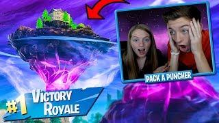 CUBE ISLAND EVENT #3 LIVE REACTION w/ MY GIRLFRIEND! (Fortnite Battle Royale)