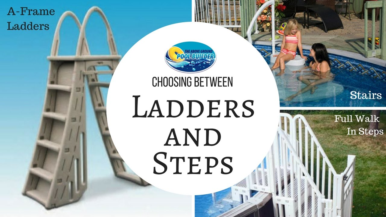 ⏩Above Ground Pool Ladders and Steps