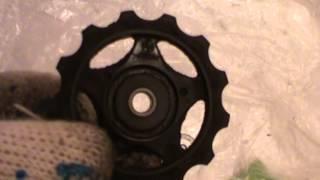 Натяжной ролик заднего переключателя для велосипеда обслуживание(Натяжной ролик заднего переключателя велосипеда. Обслуживание велосипеда. Натяжной ролик заднего переклю..., 2015-02-20T08:55:58.000Z)