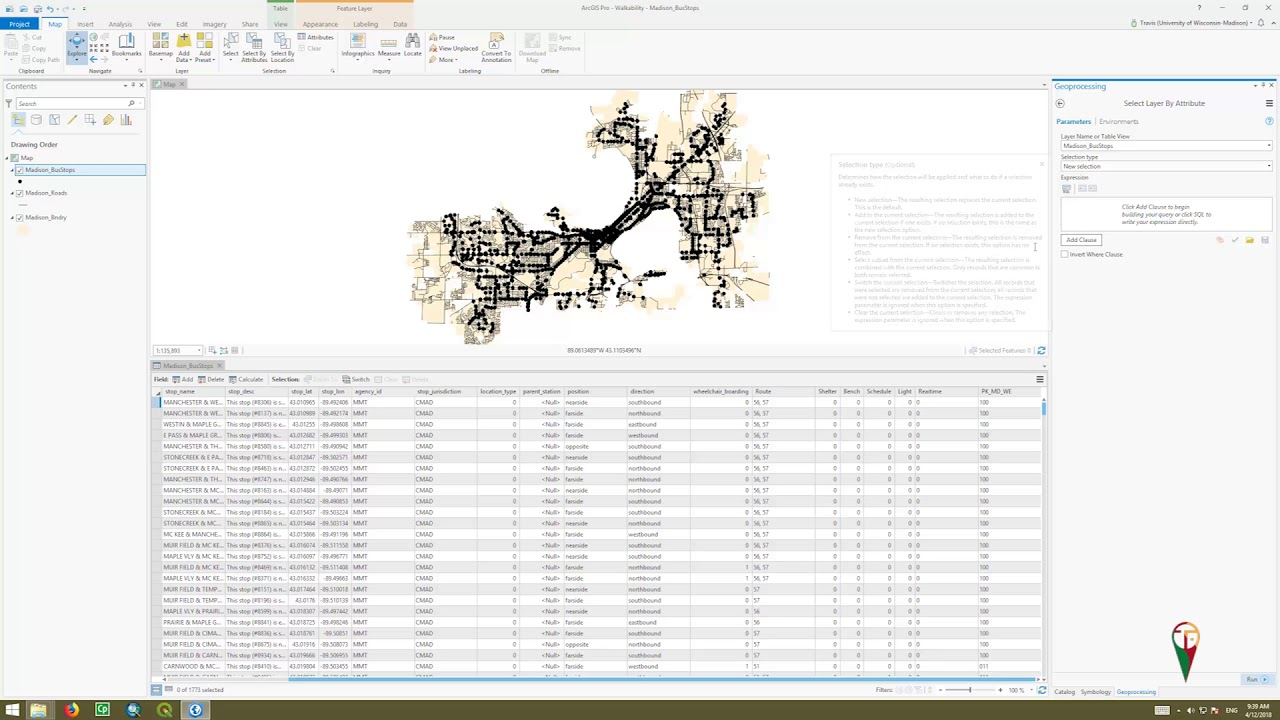 Using the select by attribute in ArcGIS Pro