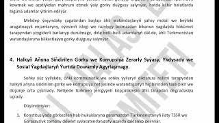 Milli Halas Ediş Komiteti Güýje Girdi   Türkmenistan