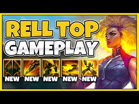 NEW CHAMPION RELL IS AN UNKILLABLE RAID BOSS! RELL TOP GAMEPLAY! - League of Legends