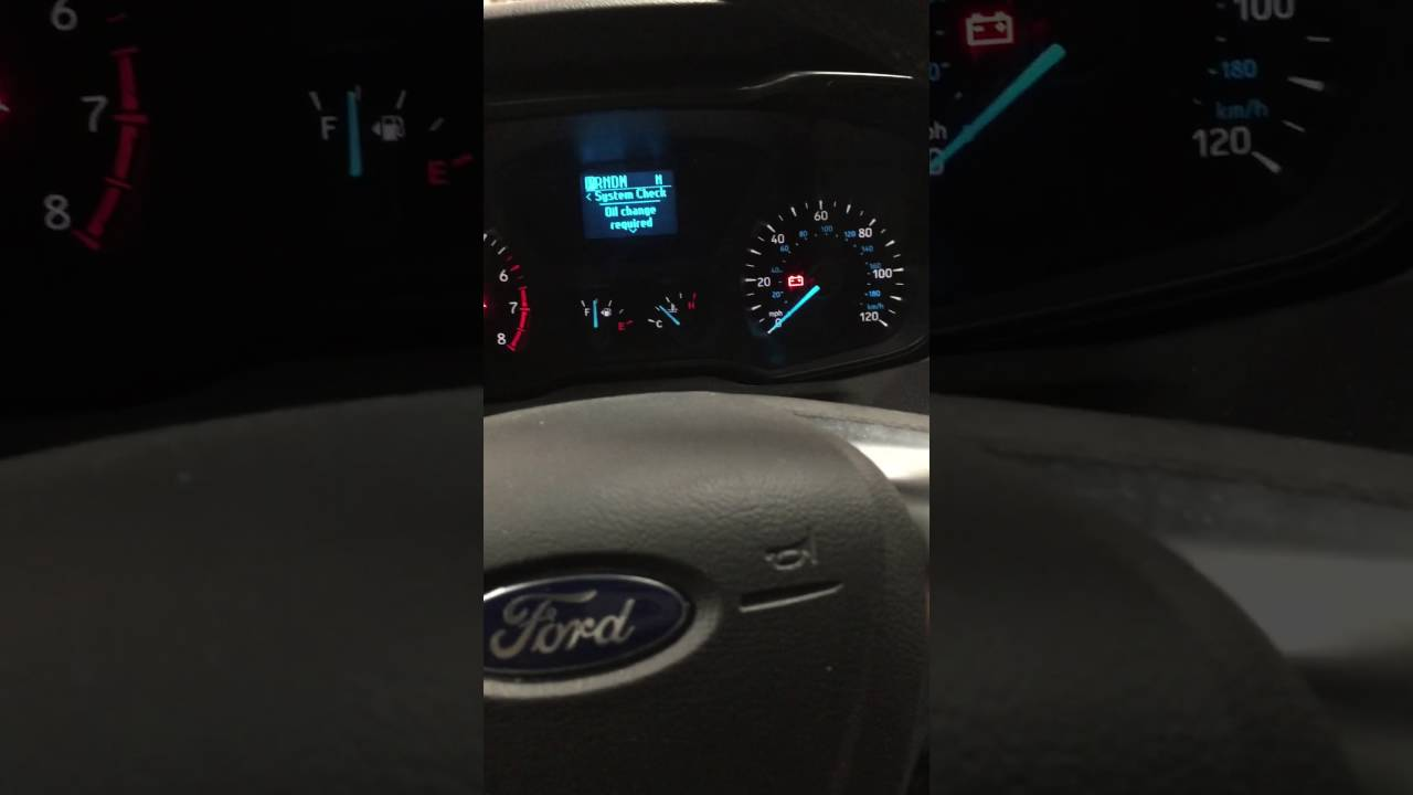 2015 Ford Transit 250 Oil Life Reset Youtube