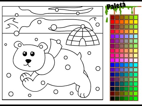 Polar Bear Coloring Pages For Kids - Polar Bear Coloring Pages - YouTube