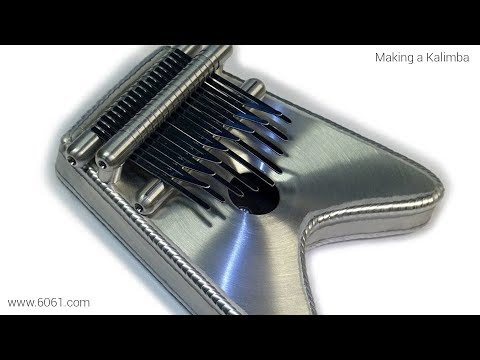 TIG Welding Aluminum Fabrication - Making a Kalimba (Thumb P