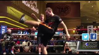 Terence Crawford & Jeff Horn Open Workout From Las Vegas
