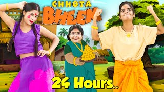Living like Chhota Bheem & Chutki in Real Life For 24 Hours.. *funniest challenge*🤣🤣