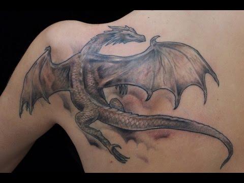 Татуировка дракон - лучшая коллекция работ тату студии Маруха