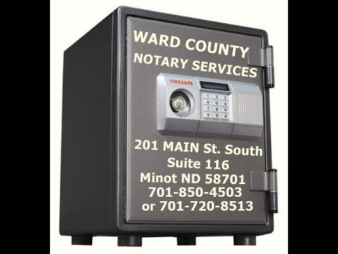 Ward County Notary Services