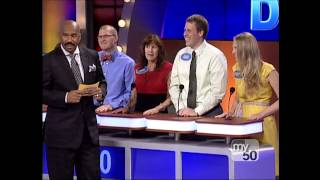 rude game show contestant on family feud