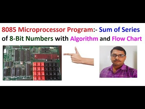 Sum of series in 8085 microprocessor. ALP sum of series program in 8085