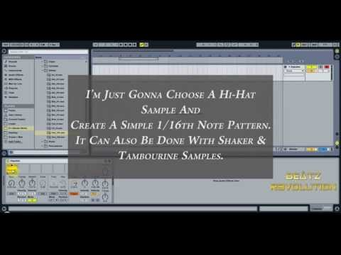 How To Program Natural Sounding Hi Hats/Shakers/Tambourine In Ableton Live - Tutorial