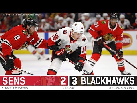Sens vs. Blackhawks - Players Post-game