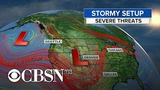 Large parts of the U.S. could see tornadoes, hail, high winds this weekend