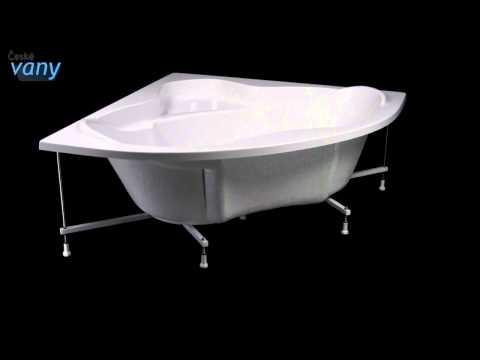 Акриловая угловая ванна Polysan SIMONA (www.santehimport.com)