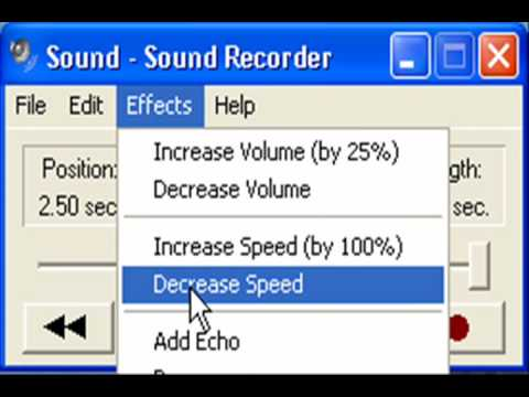Windows xp sound recorder messing with your voice youtube for Window recorder
