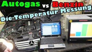 Autogas verbrennt heisser!   Oder auch nicht! Die Messung