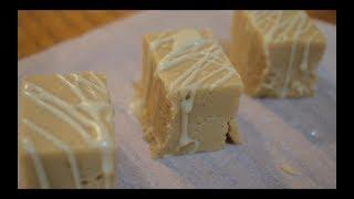 Vegan White Chocolate Peanut Butter Fudge