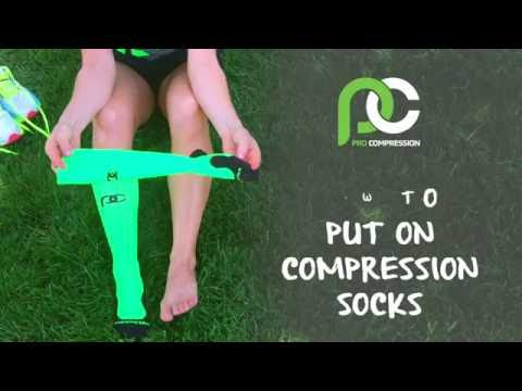 How to put on Compression Socks | PRO Compression – Compression Socks for Running, Work, & Recovery