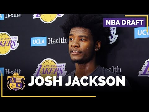 Lakers Workout Kansas' Josh Jackson (FULL INTERVIEW)