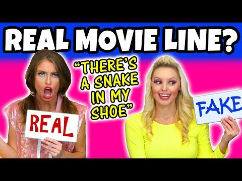 Guess the Movie Quote is it Real or Fake Challenge. We Guess Disney Movies (Family Friendly) 2018
