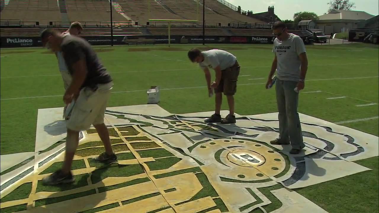 boiler bytes  paint crews prepare field at ross