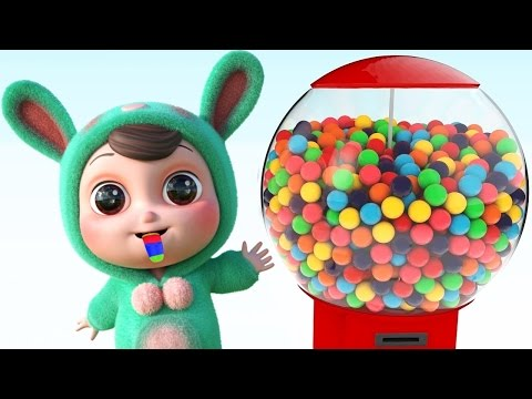 Thumbnail: Learn Colors for Children with Gumball Candy and 3D Baby -Colours Learning Videos for Kids,Toddlers