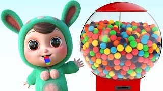 Learn Colors for Children with Gumball Candy and 3D Baby -Colours Learning Videos for Kids,Toddlers