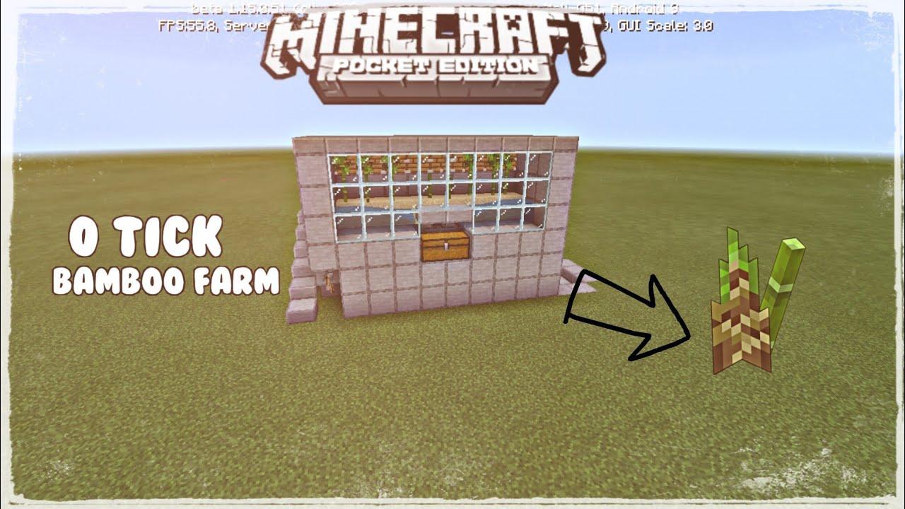 Minecraft PE - 0 Tick bamboo farm 1.15 - YouTube
