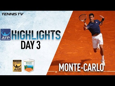 Monte-Carlo Highlights: Djokovic, Haas Advance On Day 3 At Monte-Carlo Rolex Masters