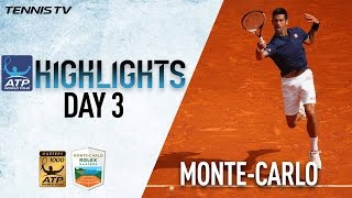 Monte-Carlo Highlights: Djokovic, Haas Advance On Day 3