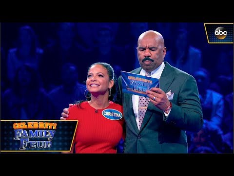 Christina Milian Plays Fast Money!  Celebrity Family Feud