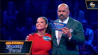 Christina Milian Plays Fast Money! - Celebrity Family Feud