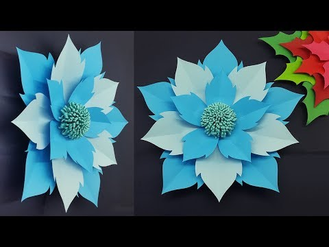 Giant Paper Flower Easy Making Tutorial with Templates | Paper Flowers Wall Decorations