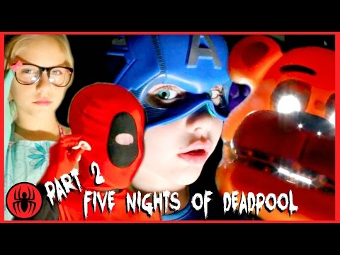 A Five Nights at Freddy's Scary Story! Part 2 CAPTAIN AMERICA TO THE RESCUE real life SuperHero Kids