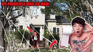 TOILET PAPERING My High School Principles House! (COPS CALLED)