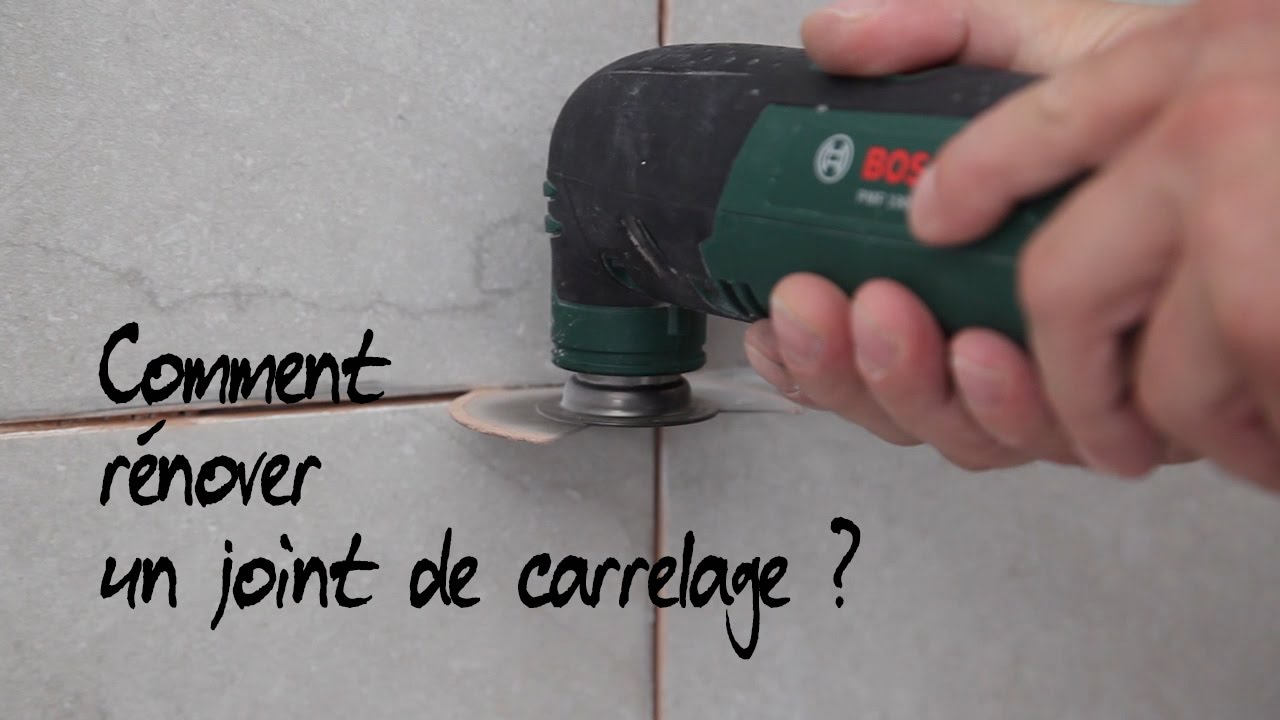Comment r nover un joint de carrelage youtube - Percer carrelage salle de bain ...