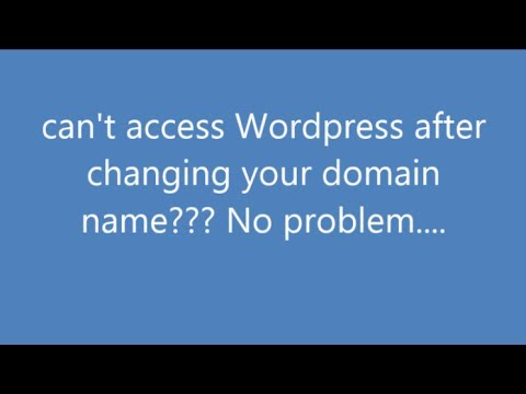 Can't login to wordpress after changing domain name