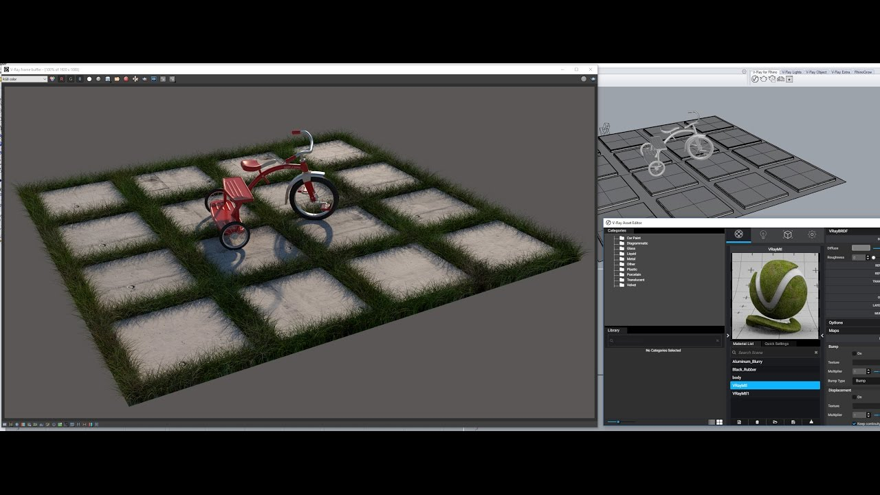 V-Ray 3 for Rhino: V-Ray fur for grass | FlyingArchitecture