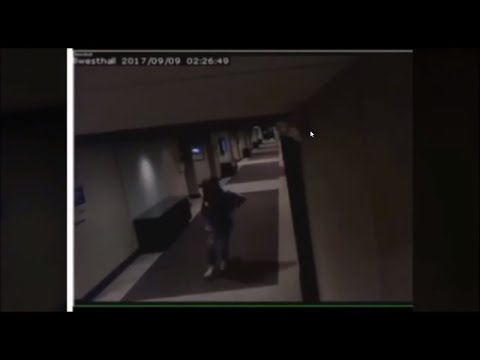 CLEARER VISION  OF FOOTAGE WHERE KENNEKA IS IN THE HALL WAY