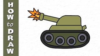 Kids Drawings Military Tank