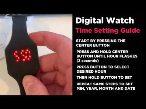 Digital Watch Setting Guide