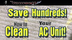 how to clean your outside ac unit